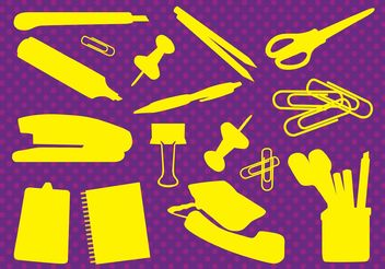 Office Supplies Vectors - Free vector #151545