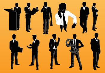 Businessman Vectors - Free vector #151565