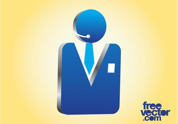 3D Businessman Icon - Free vector #151615