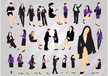 Business Women - vector gratuit #151645