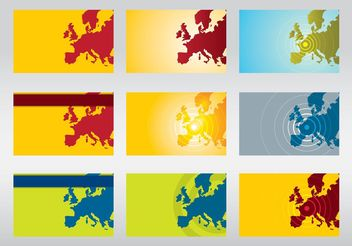 Europe Vector Maps - vector #151655 gratis