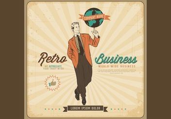 Free Vector Retro Business Poster - vector gratuit #151715