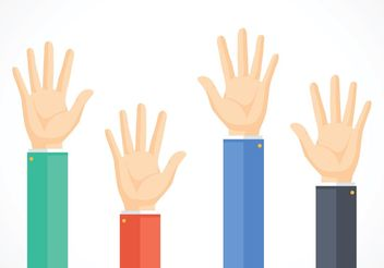 Free Business Hands Reaching Vector - Free vector #151765