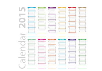 Vertical Daily Planner Vector - бесплатный vector #151835
