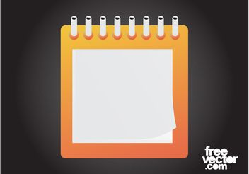 Blank Notepad Graphics - Free vector #151855