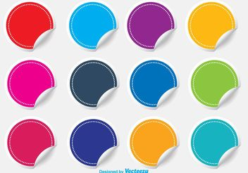 Colorful Blank Sticker Set - vector #151875 gratis