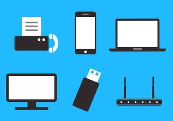 Set of Communication and Data Storage Devices in Vector - vector #151905 gratis