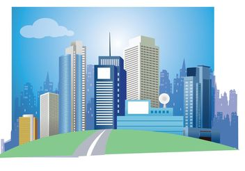 Modern City Vector Art - Free vector #151985