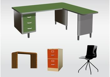 Office Furniture - vector gratuit #152035