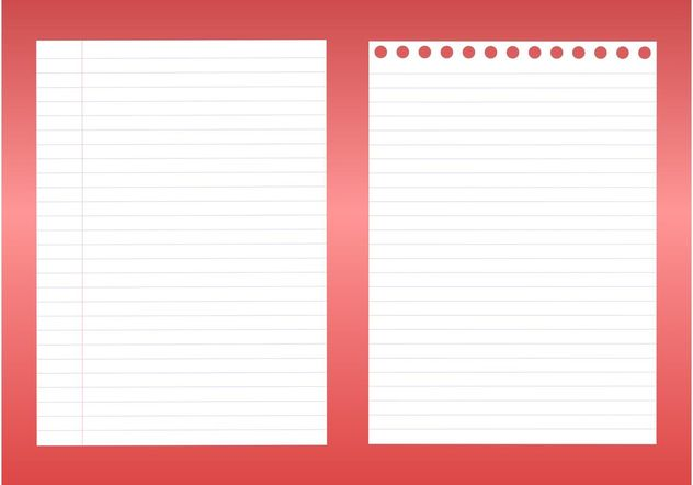 Notebook Sheets - Free vector #152065