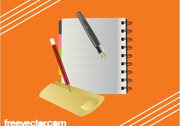 Stationery Items Graphics - Free vector #152185