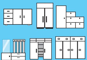 Furniture and Closet Vectors - Free vector #152245