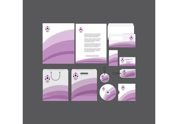 Purple Stripe Company Profile Template - Free vector #152255