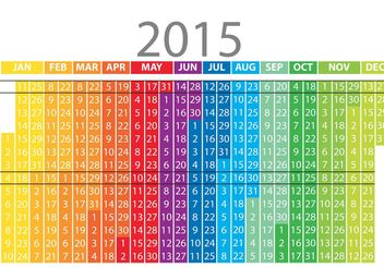 Rainbow Daily Planner Vector - Free vector #152265