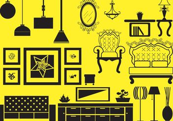 Antique and Modern Furniture Vector - бесплатный vector #152295