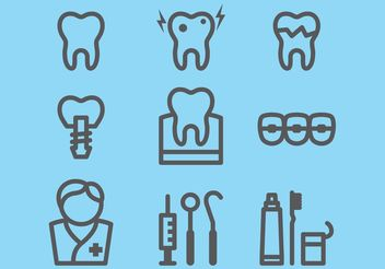Dental Icons - Kostenloses vector #152305