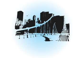 City Skyline - vector gratuit #152345