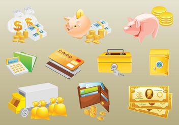 Money Vectors - vector gratuit #152405