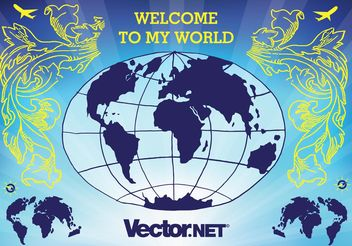Globe Vector Illustration - vector gratuit #152425