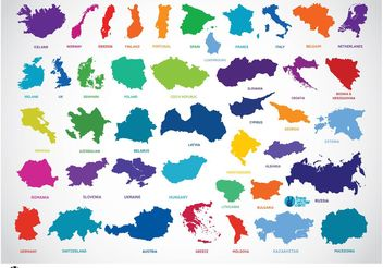 Europe Countries - vector gratuit #152475