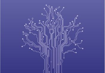 Circuit Tree Vector - бесплатный vector #152605