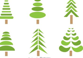 Symmetrical Tree Vectors - vector #152625 gratis