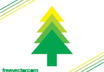 Evergreen Tree Icon - Free vector #152675