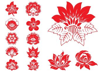 Blooming Flowers Graphics - Kostenloses vector #152705