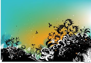 Summer Nature Vector Illustration - vector #152745 gratis