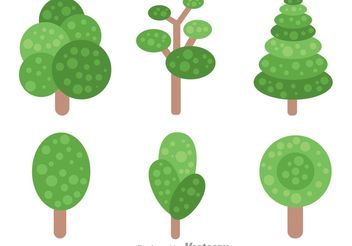 Simple Tree With Leaves Vectors - vector gratuit #152785