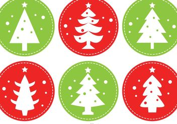 Stitched Christmas Tree Vectors - vector gratuit #152805