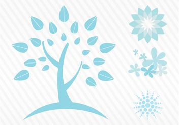 Nature Design Elements - vector gratuit #152845