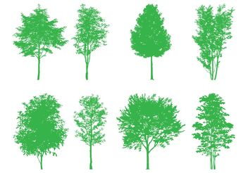 Tree Silhouettes Set - vector #152895 gratis
