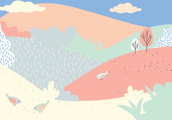 Vector Landscape Illustration - Free vector #152915