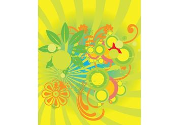 Summer Flowers Graphics - Free vector #152975