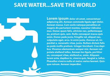 Save Water Illustration - vector gratuit #153015