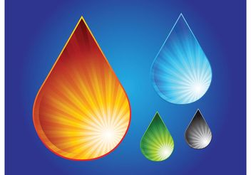 Water Drop Graphics - Free vector #153105