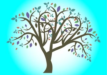 Colorful Tree - vector gratuit #153145
