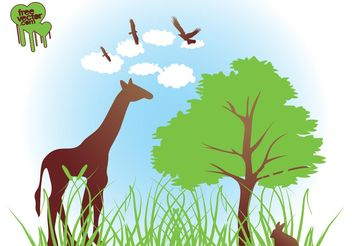 Vector African Nature - Free vector #153215