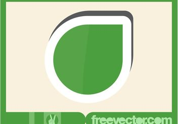 Green Sticker - vector gratuit #153235
