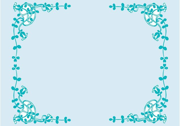 Flowers Frame - Free vector #153335