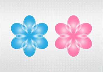 Vector Blooming Flowers - vector gratuit #153365