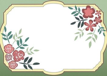 Vector Frame With Flowers - vector gratuit #153385