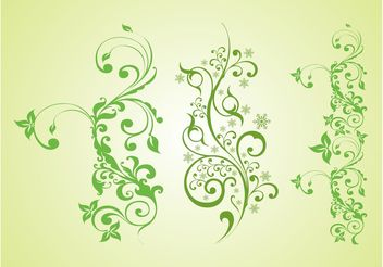 Green Plants Vector Graphics - vector gratuit #153435