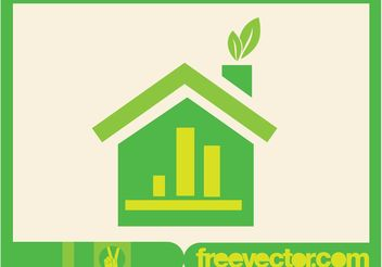 Green Home Icon - vector gratuit #153475