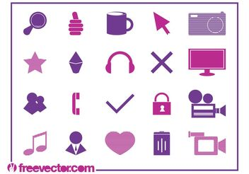 Technology Icons Vector - Free vector #153505