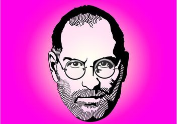 Steve Jobs Portrait - Free vector #153545