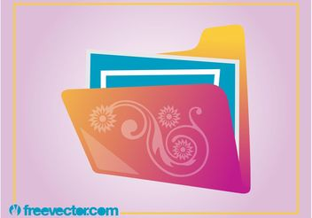Floral Folder Vector - Free vector #153805