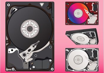 Hard Disks Graphics - vector gratuit #153825