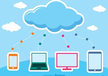 Cloud Computing Vectors - vector gratuit #153835